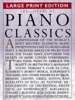 The Library of Piano Classics - Large Print Edition Sheet Music
