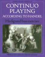 G.F. Handel: Continuo Playing According To Handel Sheet Music