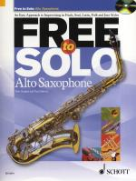 Rob Hughes/Paul Harvey: Free To Solo - Alto Saxophone Sheet Music