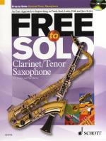 Rob Hughes/Paul Harvey: Free To Solo - Clarinet Or Tenor Saxophone Sheet Music