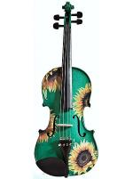 Sunflower Delight Green Violin Outfit - Size 1/4 Sheet Music