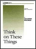Think on These Things Sheet Music
