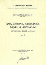 Arie, correnti, sarabande, op. 4 (Bologna, 1671) Sheet Music