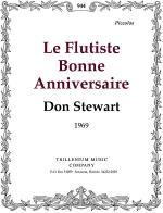 Le Flutiste Bonne Anniversaire Sheet Music
