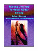 Exciting Concepts for Blues Guitar Soloing Sheet Music