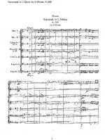 Serenade in C K.388 for winds Sheet Music