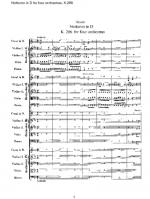 Nocturne in D K.286 for four orchestras Sheet Music