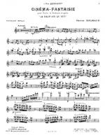 Cinema-Fantaisie Sheet Music