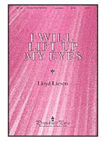 I Will Lift Up My Eyes Sheet Music