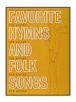 Favorite Hymns and Folk Songs For Guitar Sheet Music