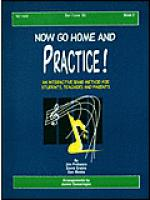 Now Go Home And Practice Book 2 Baritone BC Sheet Music