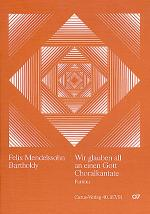 Wir glauben all an einen Gott (We all believe in one true God) Sheet Music
