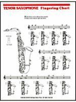 Elementary Fingering Chart - Tenor Saxophone Sheet Music