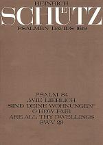 Wie lieblich sind deine Wohnungen (O how fair are all thy dwellings) Sheet Music