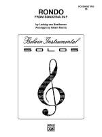 Rondo (from Sonatina in F) Sheet Music
