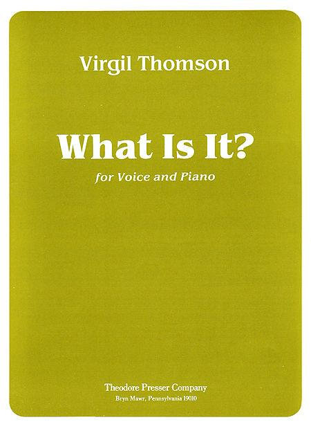 What Is It? Sheet Music
