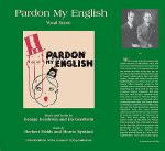 Pardon My English (Vocal Score) Sheet Music