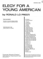 Elegy for A Young American Sheet Music