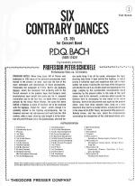 Six Contrary Dances (S. 39) Sheet Music