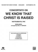 Concertato on We Know That Christ Is Raised Sheet Music