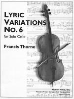 Lyric Variations No. 6 Sheet Music