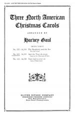 Three North American Christmas Carols Sheet Music