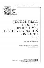 Justice Shall Flourish in His Time/Lord, Every Nation on Earth: Psalm 72 Sheet Music