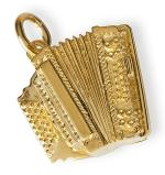Gold-plated pendant : accordion Sheet Music