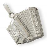 Silver pendant : accordion Sheet Music