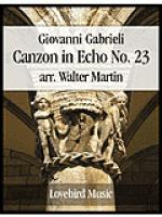 Canzon in Echo No. 23 Sheet Music