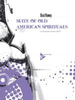 Suite Of Old American Spirituals Sheet Music