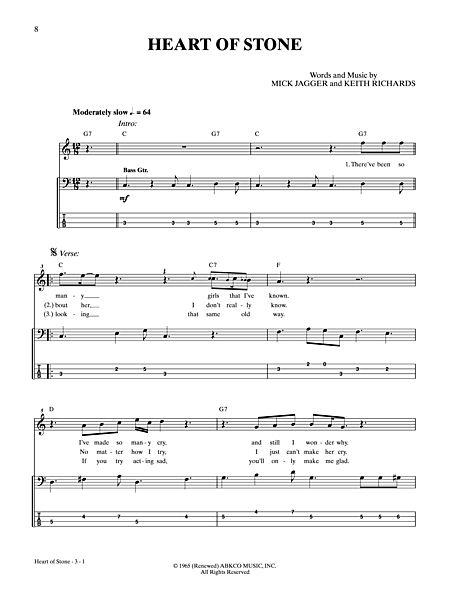 Heart of Stone Sheet Music
