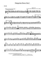 Hungarian Dance No. 2: Flute Sheet Music