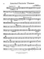 America! Patriotic Themes (as played at Disney World): String Bass Sheet Music