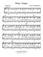 Petite Tango: Piano Accompaniment Sheet Music