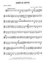 Simple Gifts (Shaker Folk Tune): 2nd B-flat Clarinet Sheet Music
