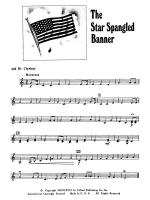 The Star Spangled Banner: 2nd B-flat Clarinet Sheet Music