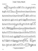 Cedar Valley March: 1st Trombone Sheet Music
