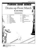 Drums-up-Front March: Score Sheet Music