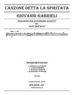 Canzone detta La Spiritata Sheet Music