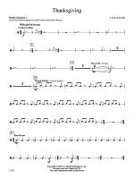 Thanksgiving: 2nd Percussion Sheet Music