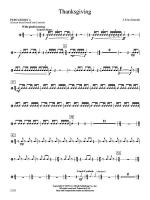 Thanksgiving: 4th Percussion Sheet Music