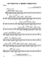 We Wish You A Merry Christmas: Drums Sheet Music