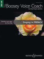 Singing in French - Medium/Low Voice Sheet Music