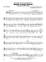 Auld Lang Syne (A Holiday Farewell for Band): 1st B-flat Clarinet Sheet Music