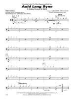Auld Lang Syne (A Holiday Farewell for Band): 1st Percussion Sheet Music