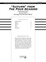 Autumn from The Four Seasons: Score Sheet Music