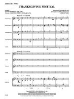 Thanksgiving Festival: Score Sheet Music