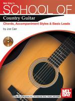 School of Country Guitar: Chords, Accompaniment, Styles & Basic Leads Book/CD Set Sheet Music