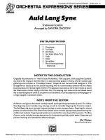 Auld Lang Syne: Score Sheet Music